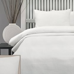 Honeycomb White 225TC Quilt Cover Set