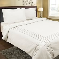 Pintuck White 225TC Quilt Cover Set