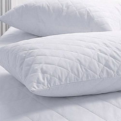 Cotton Cover Polyester Fill Quilted Pillow Protectors