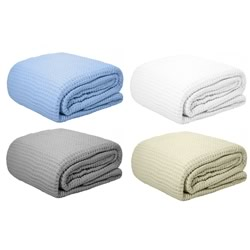 Egyptian Cotton Waffle Blankets