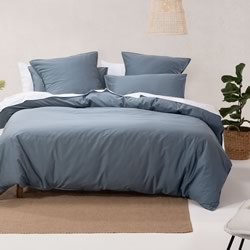 Nara Bluestone Quilt Cover Set
