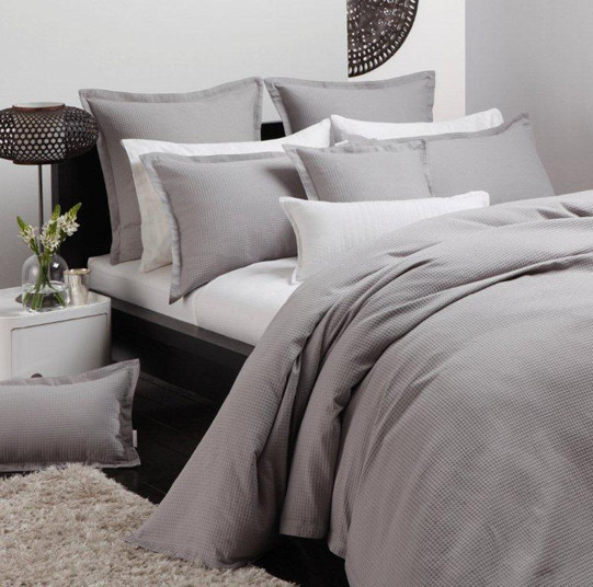 Ascot Pewter by Logan & Mason - Cottonbox : bed quilt cover sets - Adamdwight.com