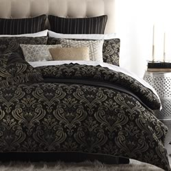 Caruso Black Quilt Cover Set