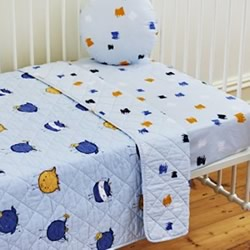 Monsters Cot Fitted Sheet