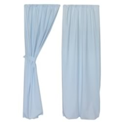 Blue Twill Curtain Pair