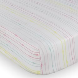 Flamingo Rainbow Cot Fitted Sheet
