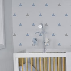 Blue Grey Triangles Wall Decals