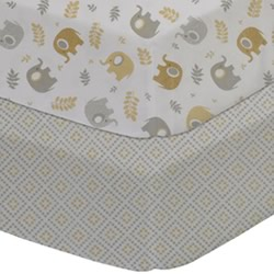 Gio Elephant Cot Fitted Sheets