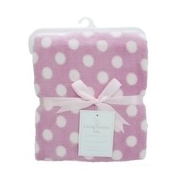 Pink Snuggle Plush Blanket