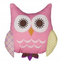 Poppy Seed Pink Owl Cushion