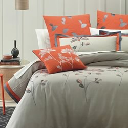 Orange Blossom Quilt Cover Set