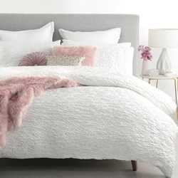 Allegra White Quilt Cover Set