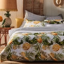 Lemony White Quilt Cover Set