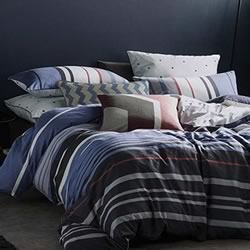Ashby Navy Quilt Cover Set