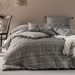 Azar Neutral Quilt Cover Set