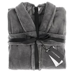 Bath Robe Plush Charcoal