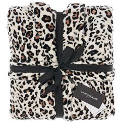 Bath Robe Plush Leopard