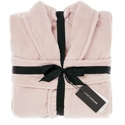 Bath Robe Plush Blush