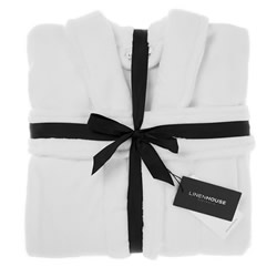 Bath Robe Plush White