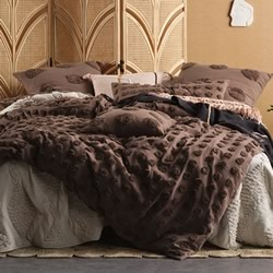Haze Mocha Quilt Cover Set
