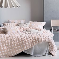 Haze Pink White Quilt Cover Set