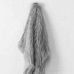Lark Grey Faux Fur Throw