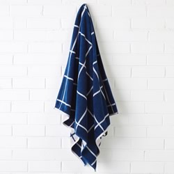 Nate Blue Beach Towel
