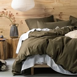 Nimes Olive Quilt Cover Set