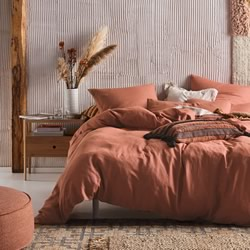 Nimes Rust Quilt Cover Set