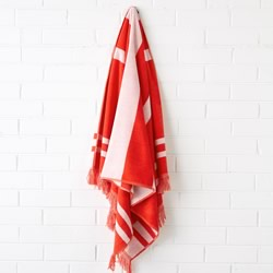 Sonny Red Beach Towel