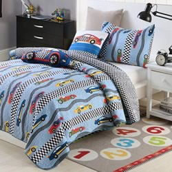 Racing Car Coverlet Set