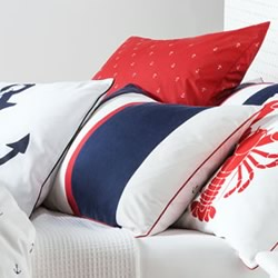 Ancora Navy European Pillowcase