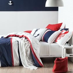 Ancora Navy Quilt Cover Set