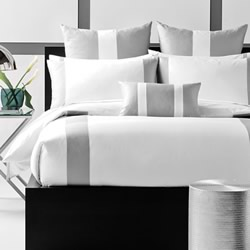 Mercer White & Silver Quilt Cover Set