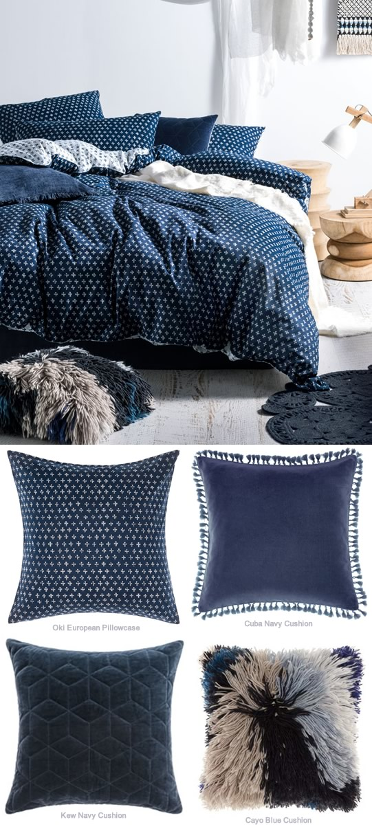 Oki Indigo By Linen House Cottonbox