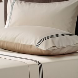 Pembroke Black/Taupe Sheet Set