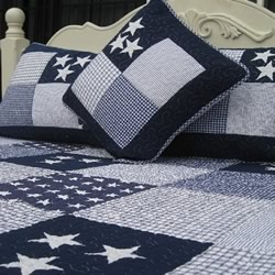 Lachlan Navy Comforter