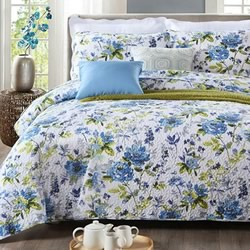 Anastasia Blue Coverlet Set