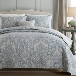 Angelique Mist Coverlet Set