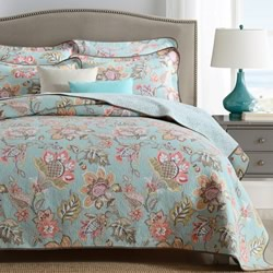 Arabella Mint Coverlet Set