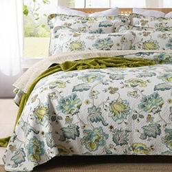 Astoria Green Coverlet Set