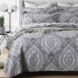 Baroque Grey Coverlet Set