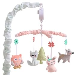 Woodland Pink Musical Mobile