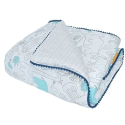 Urban Safari Quilted Cot comforter