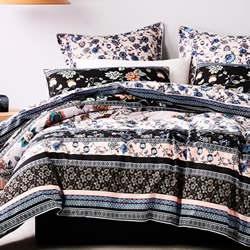 Folktown Night Quilt Cover Set
