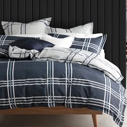 Charlie Navy Quilt Cover Set