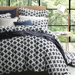 Ford Navy Quilt Cover Set