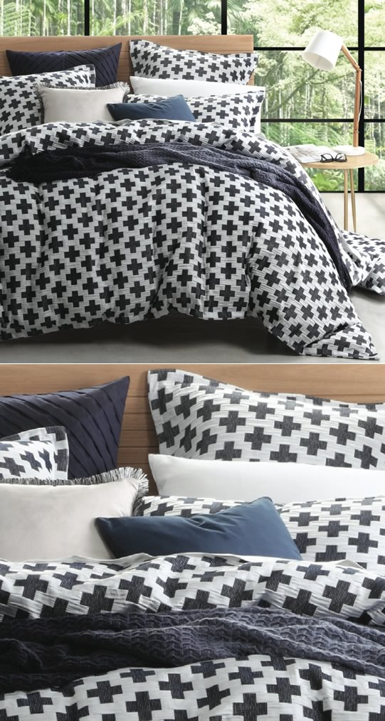 Ford Navy Quilt Cover Set By Logan Mason Cottonbox