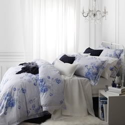 Garland French Blue Quilt Cover Set
