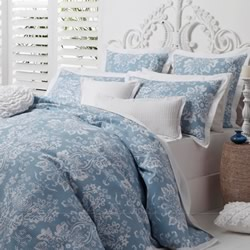 Jordana Blue Quilt Cover Set